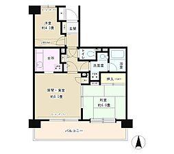 フレスコ川崎(日当たり良好、南向き住戸)[4階]の間取り