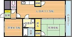 島村ビル[5階]の間取り
