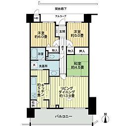 サーパスシティ西古松公園一番館[8階]の間取り