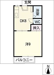 OBAZUKA5 YOU YOUB棟[2階]の間取り
