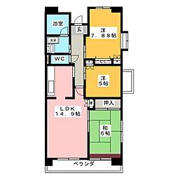 グレース北屋敷[2階]の間取り