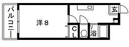 プレナム北田辺[3階]の間取り
