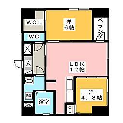 AZMOND[3階]の間取り
