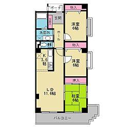 ユタカマンション[3階]の間取り