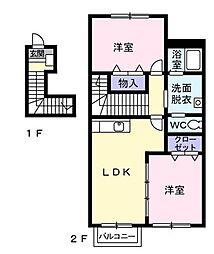 シャイニング スターB[2階]の間取り