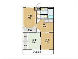セシボン北澤[4階]の間取り