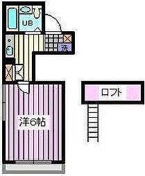 埼玉県さいたま市南区鹿手袋2丁目の賃貸アパートの間取り