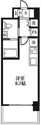 エヴァステージ梅田WEST[203号室]の間取り