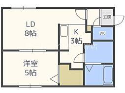 FIORITURA SUMIKAWA 4階1LDKの間取り