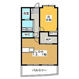 秋桜館・西原[1階]の間取り