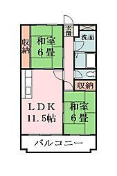 リバーサイド鈴木[3階]の間取り