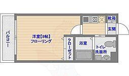 ピュアドームティアラ大手門 8階1Kの間取り