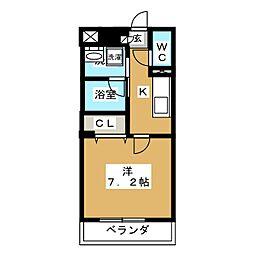 MX−II[4階]の間取り