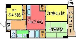 ロジュマン松本[7階]の間取り