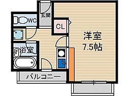 アプティー総持寺[1階]の間取り