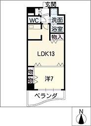 名駅・ドットマンション[11階]の間取り