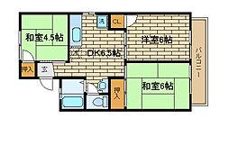 兵庫県神戸市須磨区白川台1丁目の賃貸アパートの間取り