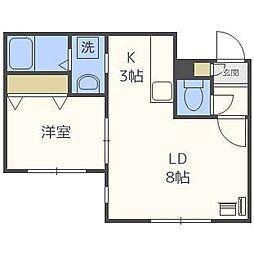 プラウド札幌[3階]の間取り