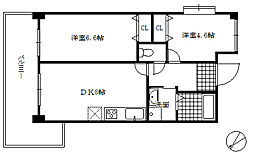 ファインビュウ熊野[3階]の間取り