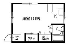 松本ハイツ[A104号室]の間取り