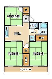 東京都府中市日新町3丁目の賃貸アパートの間取り