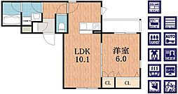 (仮称)阿倍野区播磨町へーベルメゾン[3階]の間取り