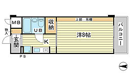 O−6マンション(学生)[405号室]の間取り