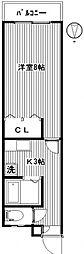 シャルマン小鳥[2階]の間取り