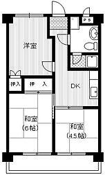 ハイツウエノ[2階]の間取り