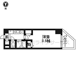 プラネシア星の子京都駅前[604号室]の間取り