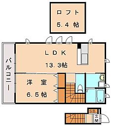 スカイハイム[2階]の間取り