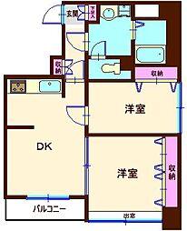 akira quattro[5階]の間取り
