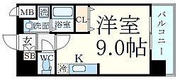 Comforespa新大阪 3階ワンルームの間取り