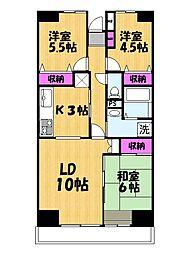 プロスペール谷塚弐番館[5階]の間取り