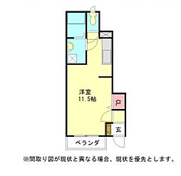 愛知県一宮市城崎通6丁目の賃貸アパートの間取り