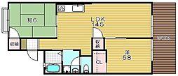 コーポヴァンベール[2階]の間取り
