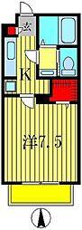 ラ・シーム[2階]の間取り