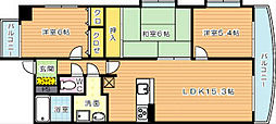ハイツ高松II[3階]の間取り