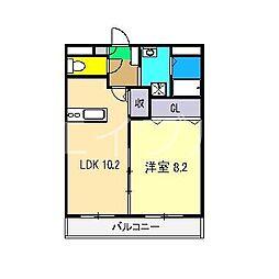 エピナール北久保[2階]の間取り