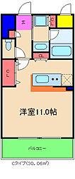 カルムクレール2.5.8[5階]の間取り