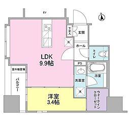 新築 リバーレ東新宿[901号室号室]の間取り