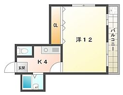 シャルマン大和田partI・II[4階]の間取り