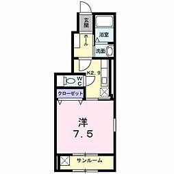 新潟県新潟市中央区有明台の賃貸アパートの間取り