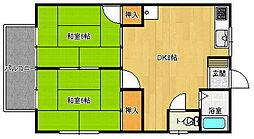 サンシャイン南ハイツ 2[2階]の間取り