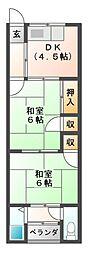 東阪田文化[2階]の間取り