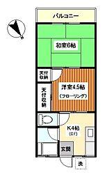 神奈川県横浜市鶴見区寺谷1丁目の賃貸マンションの間取り