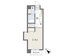 仮)清水町4丁目新築マンション 4階1Kの間取り