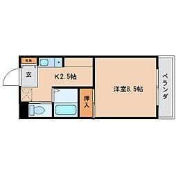 静岡県静岡市清水区七ツ新屋1丁目の賃貸マンションの間取り