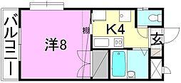 EMBASSY燦城(エンバシーサンジョウ)[202 号室号室]の間取り