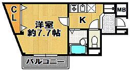 シャスール大正[2階]の間取り